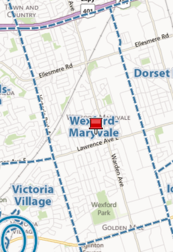 Map Wexford-Maryvale Neighbourhood Toronto Houses Homes for Sale Eric Tiftikci Century21 Leading Edge