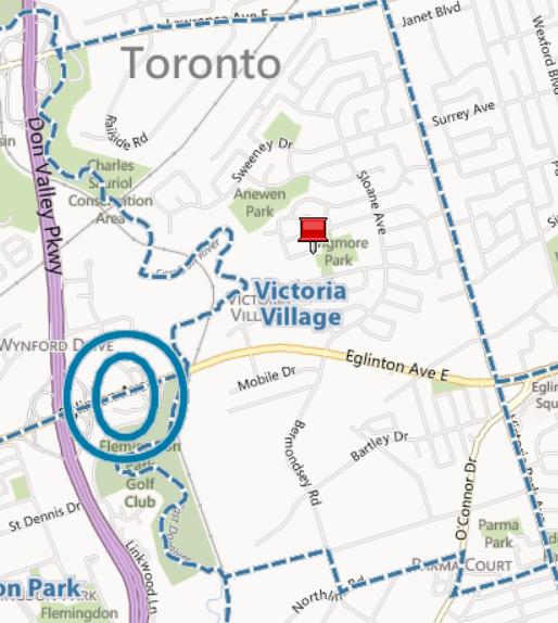 Victoria Village Neighbourhood MapToronto Real Estate Houses Homes for Sale Eric Tiftikci Century21 Leading Edge